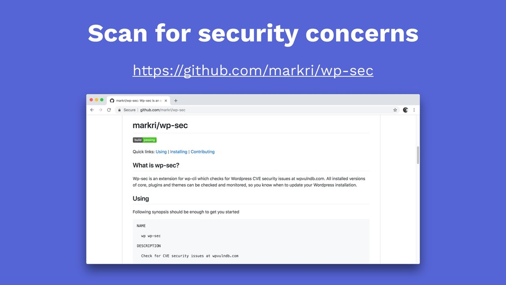 Scan for security concerns https://github.com/m...