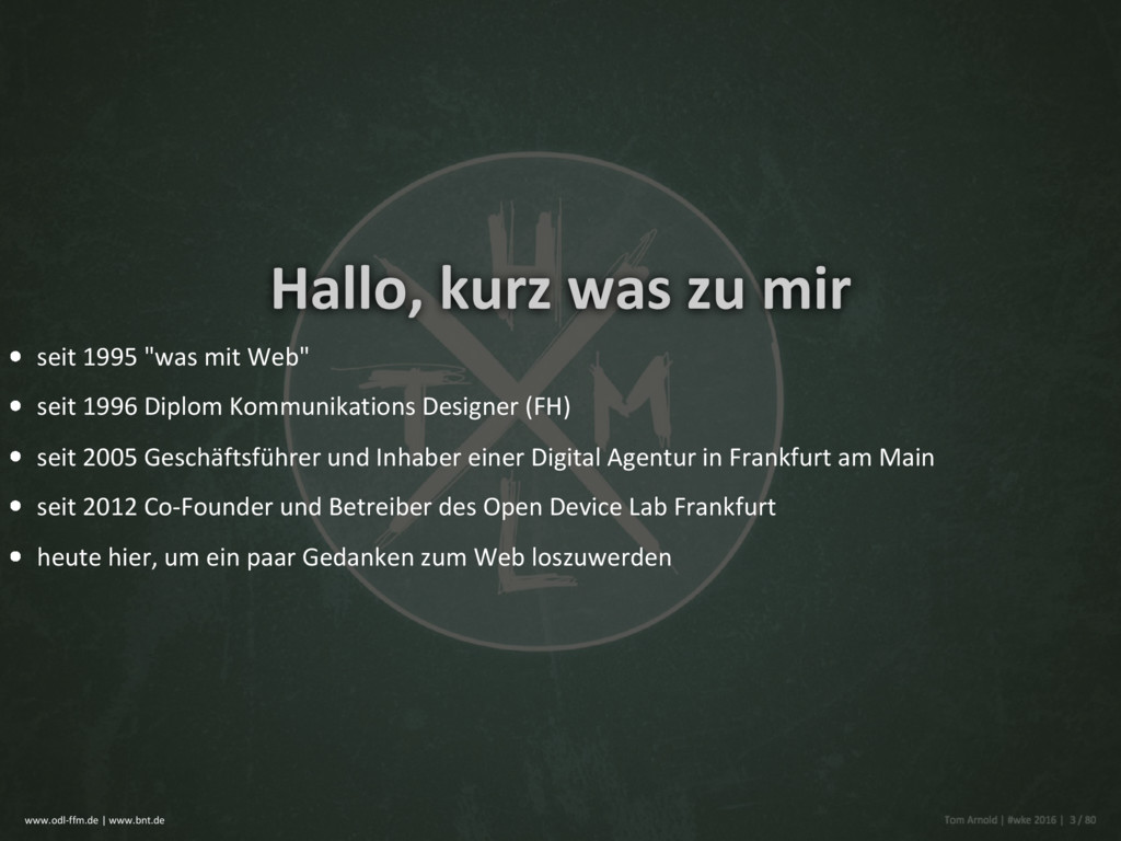 """Hallo, kurz was zu mir seit 1995 """"was mit Web"""" ..."""