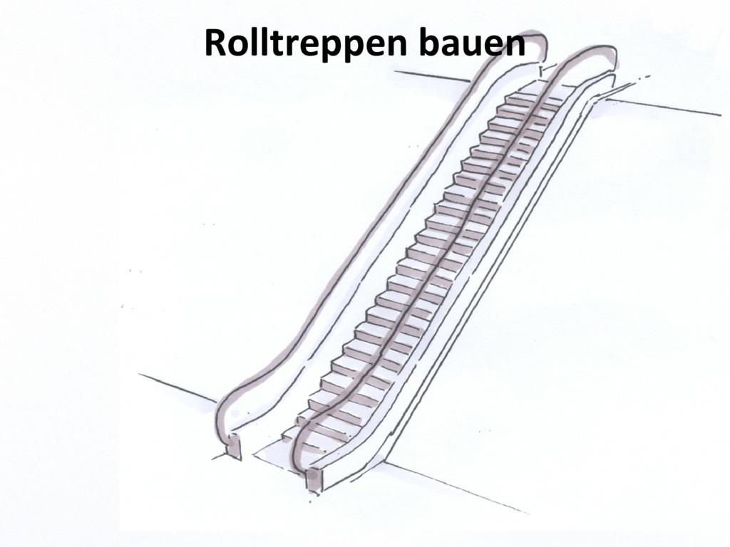 Rolltreppen bauen