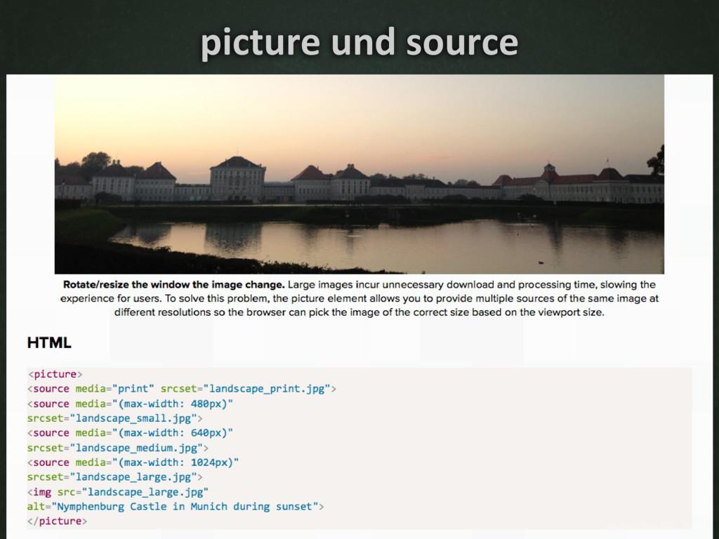 picture und source