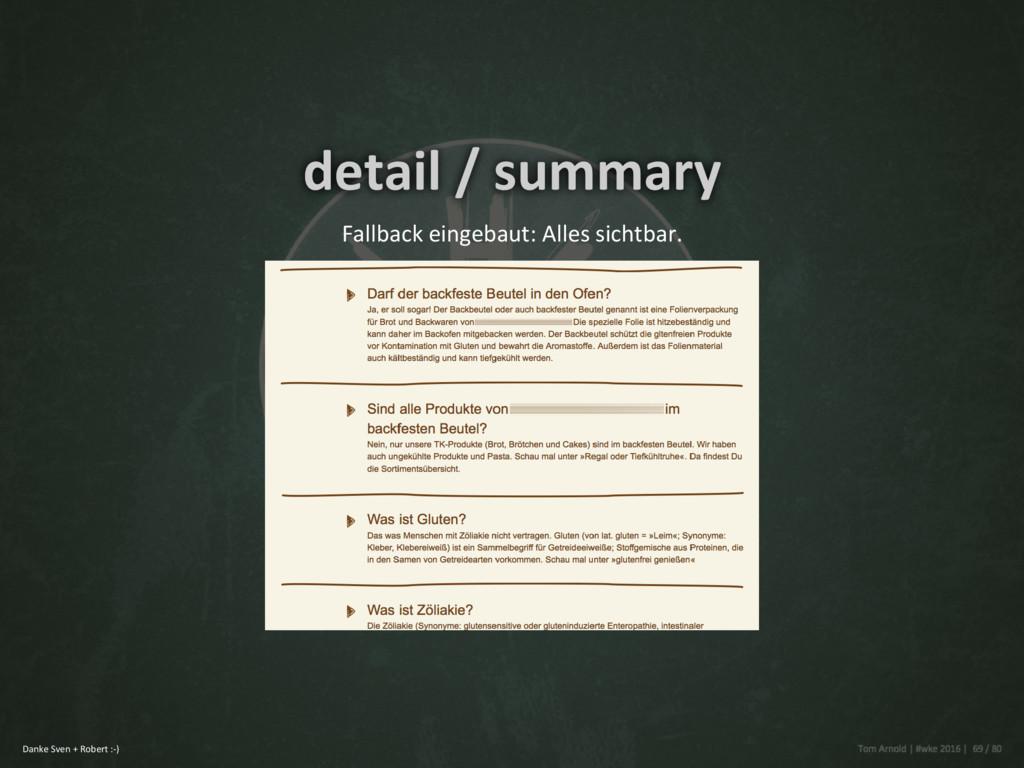 detail / summary Fallback eingebaut: Alles sich...
