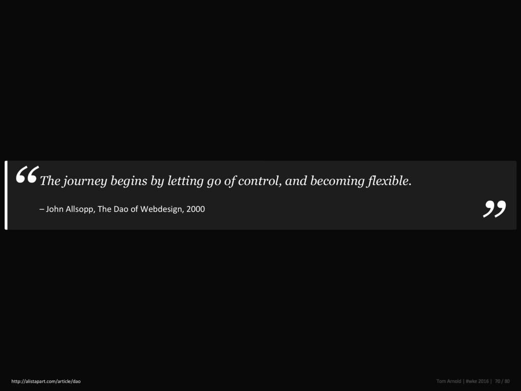 The journey begins by letting go of control, an...