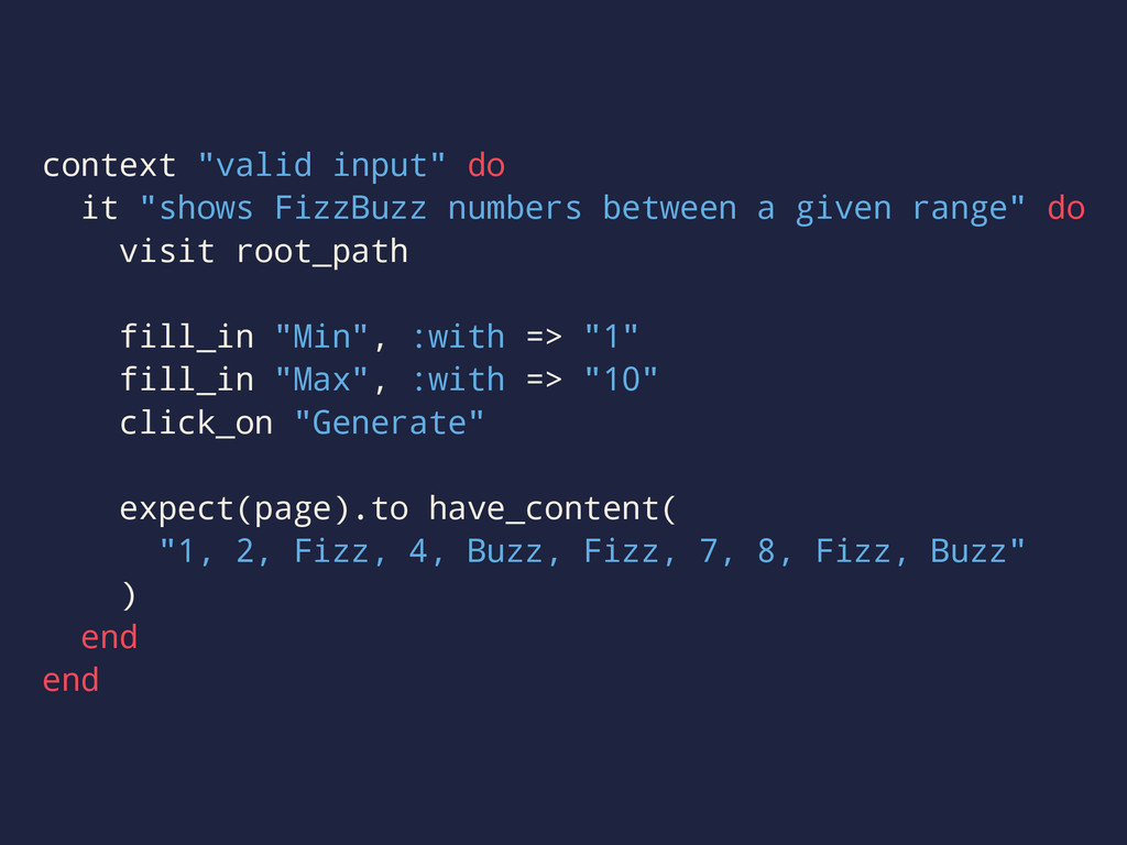 "context ""valid input"" do it ""shows FizzBuzz num..."