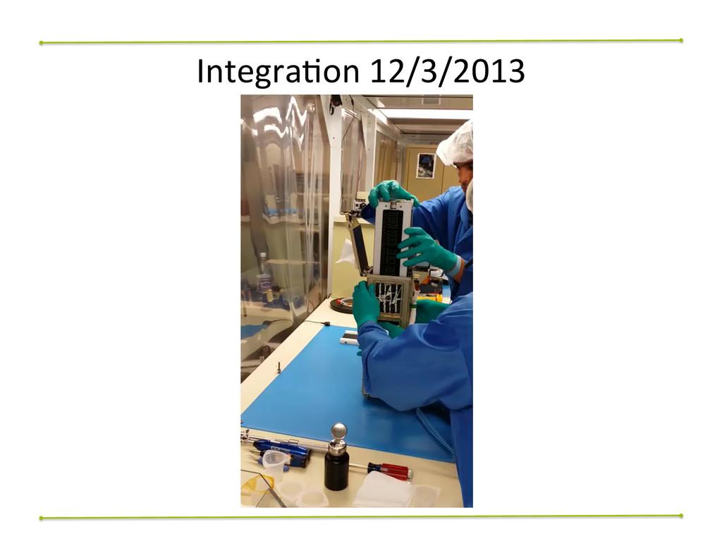IntegraNon 12/3/2013