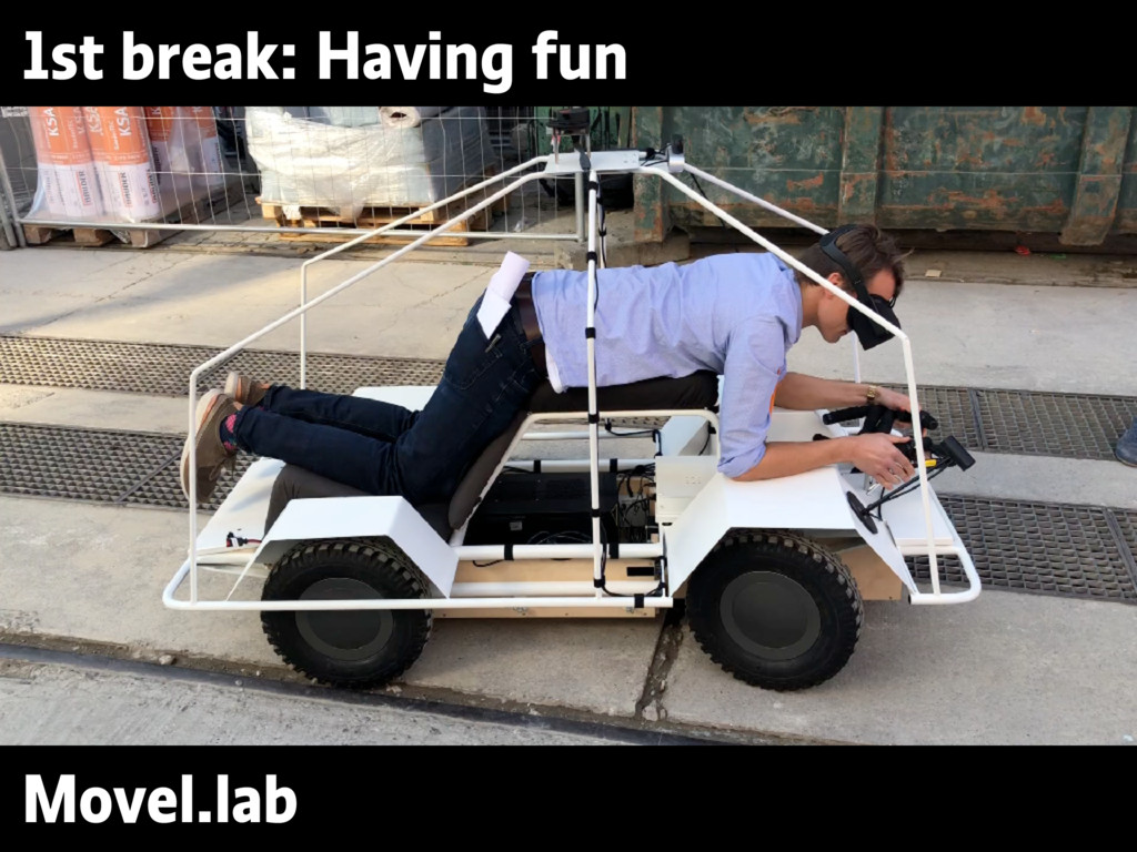 1st break: Having fun Movel.lab