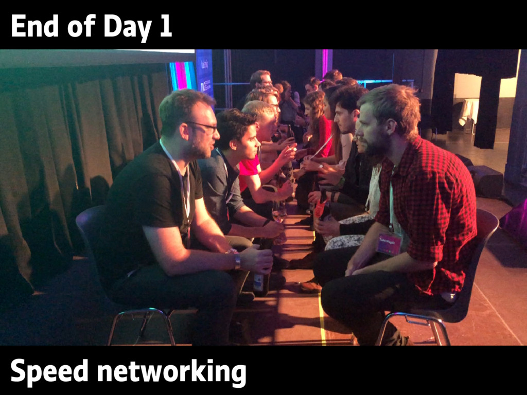 End of Day 1 Speed networking