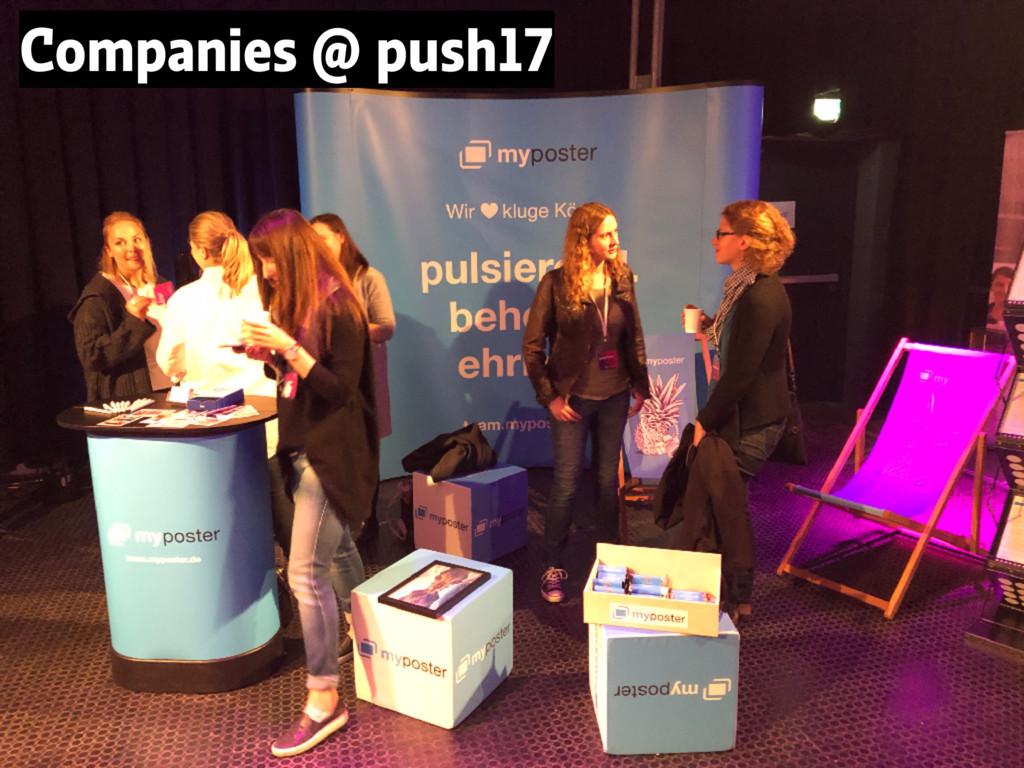 Companies @ push17