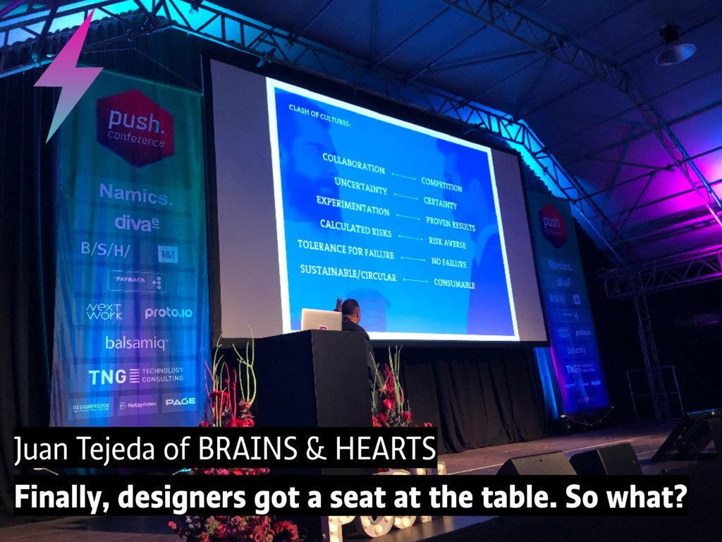 Juan Tejeda of BRAINS & HEARTS Finally, designe...