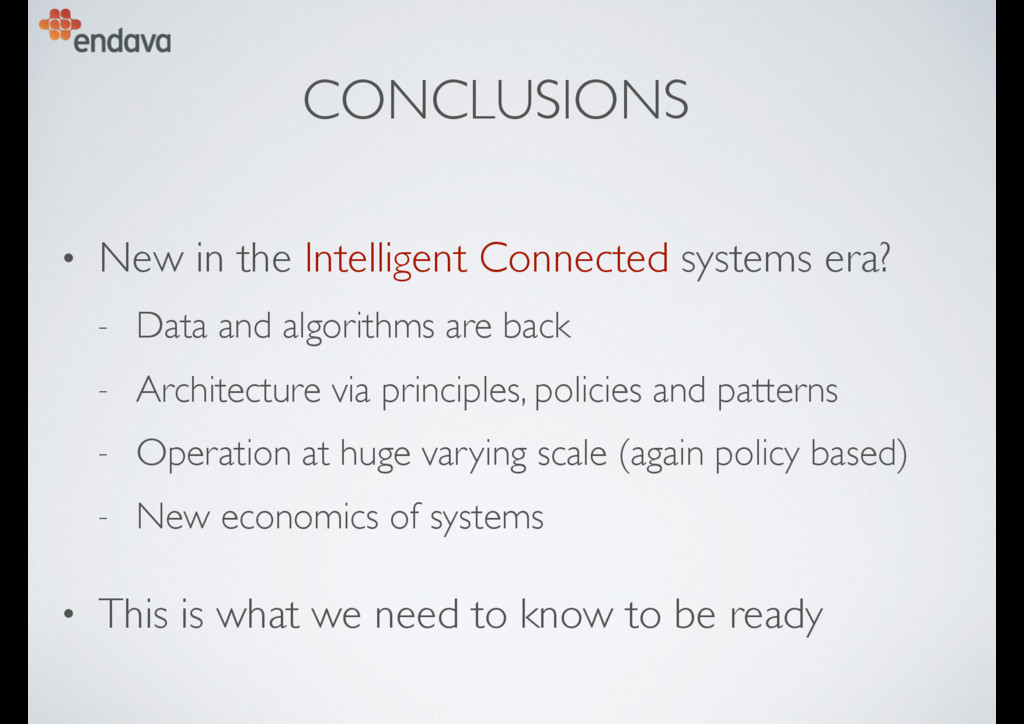 CONCLUSIONS • New in the Intelligent Connected ...
