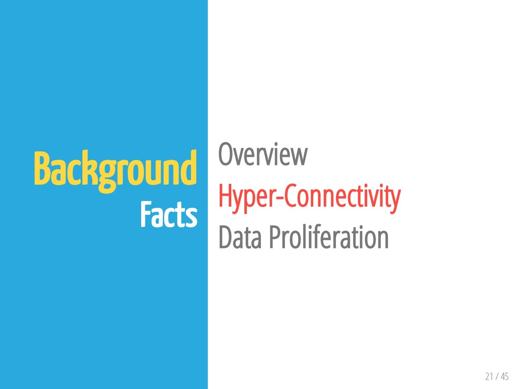 21 / 45 Background Facts Overview Hyper-Connect...