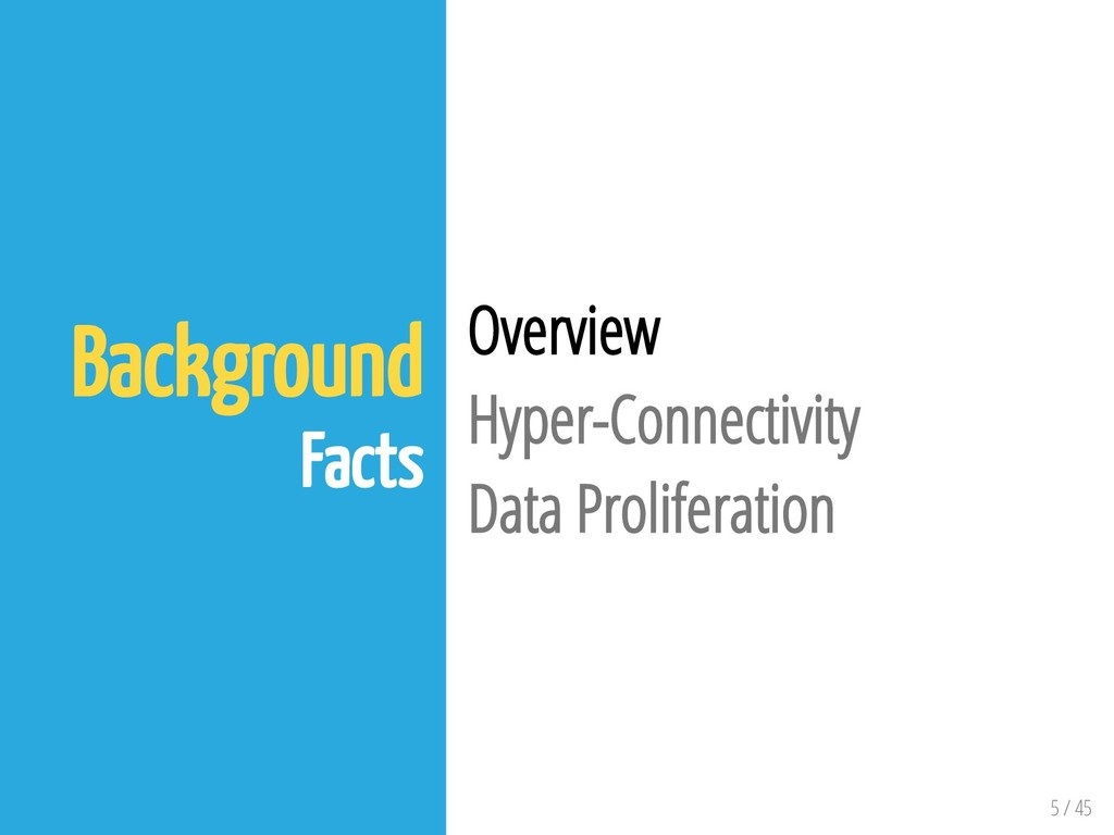 5 / 45 Background Facts Overview Hyper-Connecti...