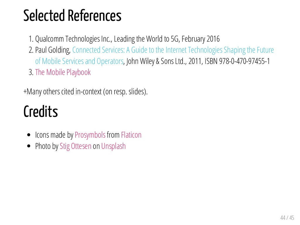 Selected References 1. Qualcomm Technologies In...