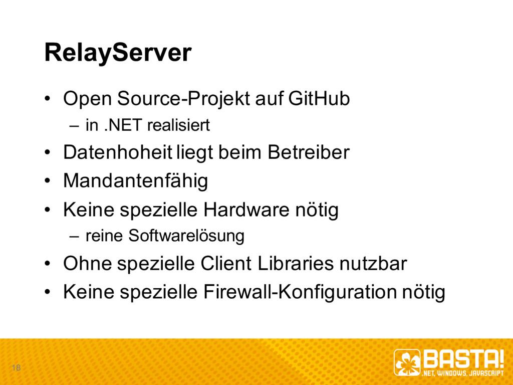 RelayServer • Open Source-Projekt auf GitHub...