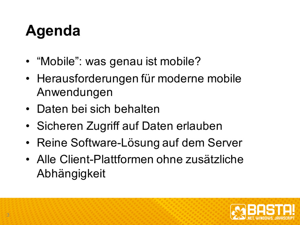 "Agenda • ""Mobile"": was genau ist mobile? • He..."