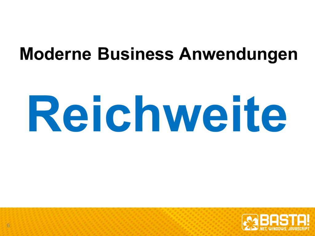 Moderne Business Anwendungen Reichweite 6