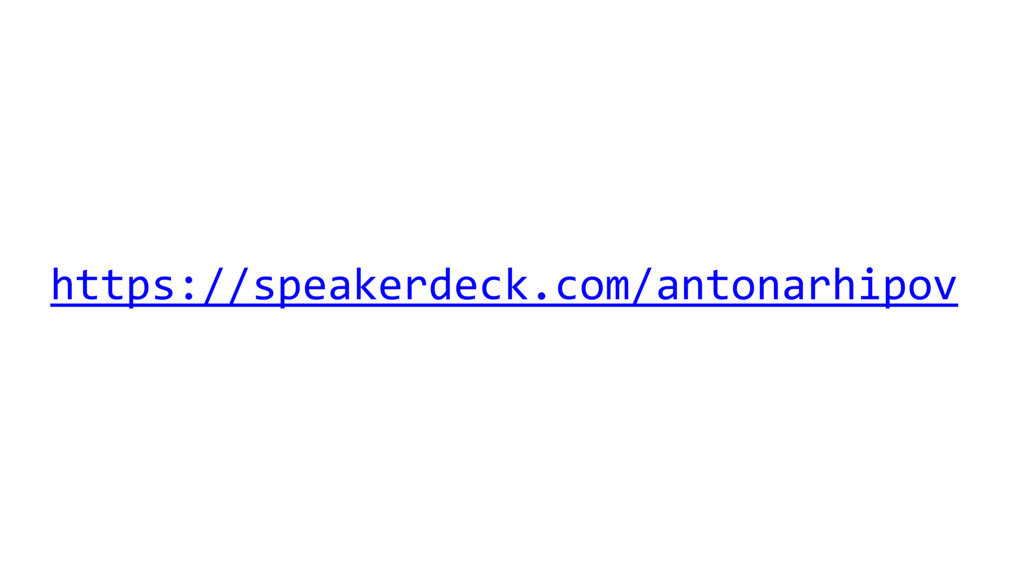 https://speakerdeck.com/antonarhipov