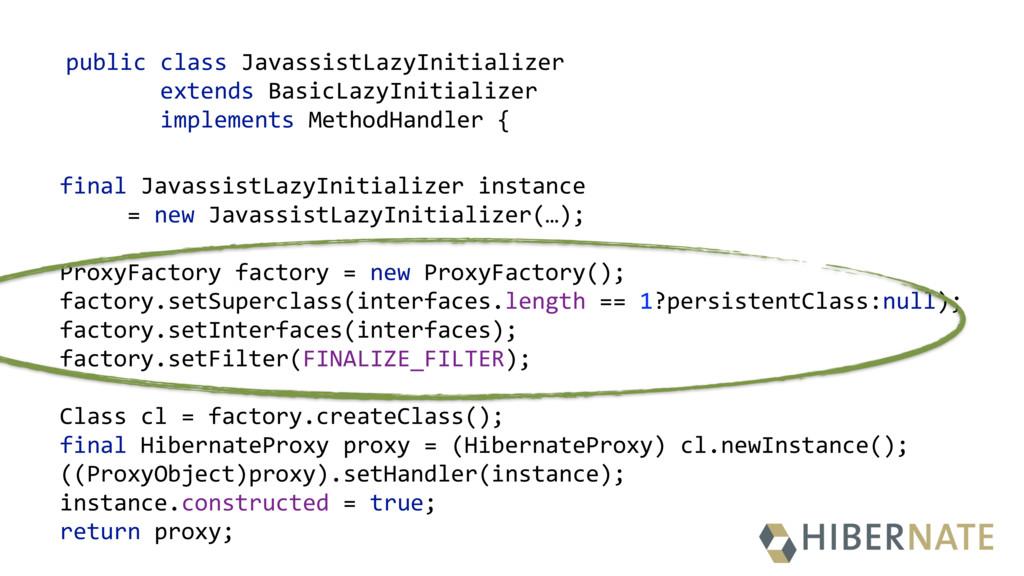 public class JavassistLazyInitializer extends B...