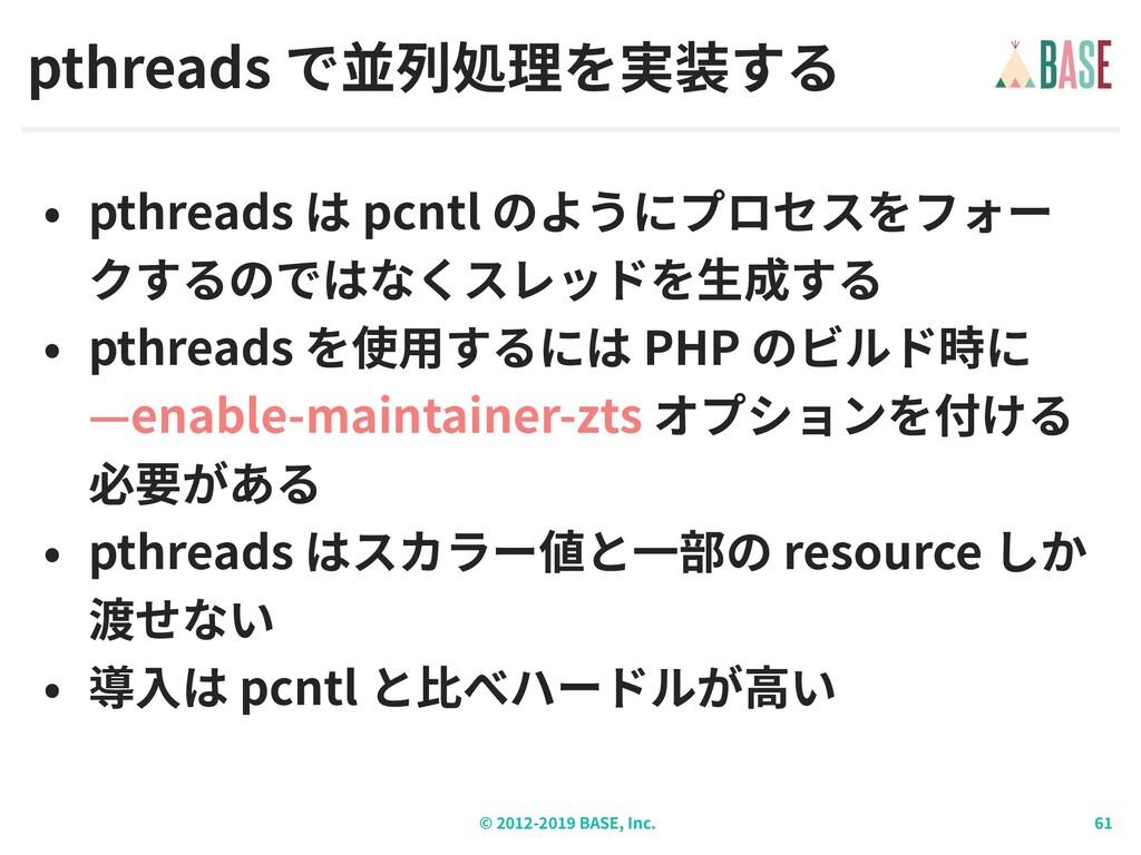 © - BASE, Inc. pthreads pthreads pcntl pthreads...