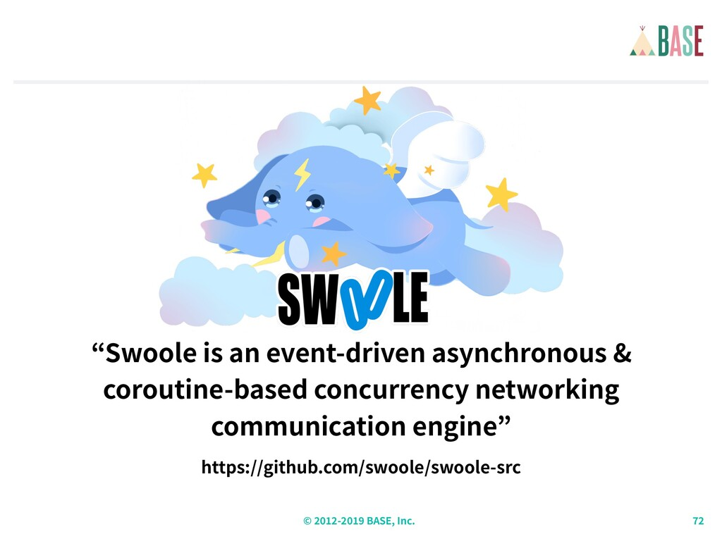 © - BASE, Inc. Swoole is an event-driven asynch...