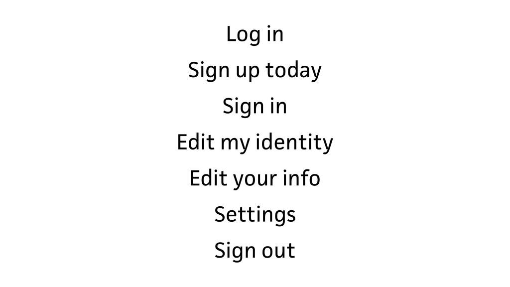 Log in Sign up today Sign in Edit my identity E...