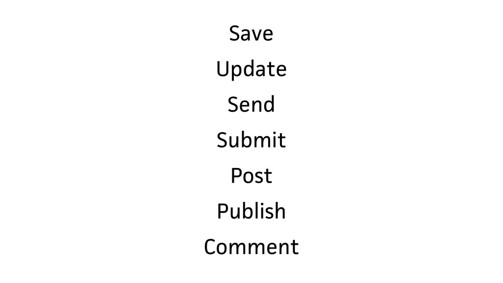 Save Update Send Submit Post Publish Comment