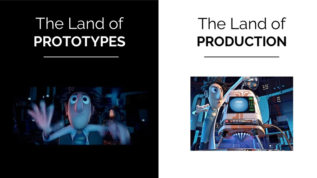 The Land of PROTOTYPES The Land of PRODUCTION