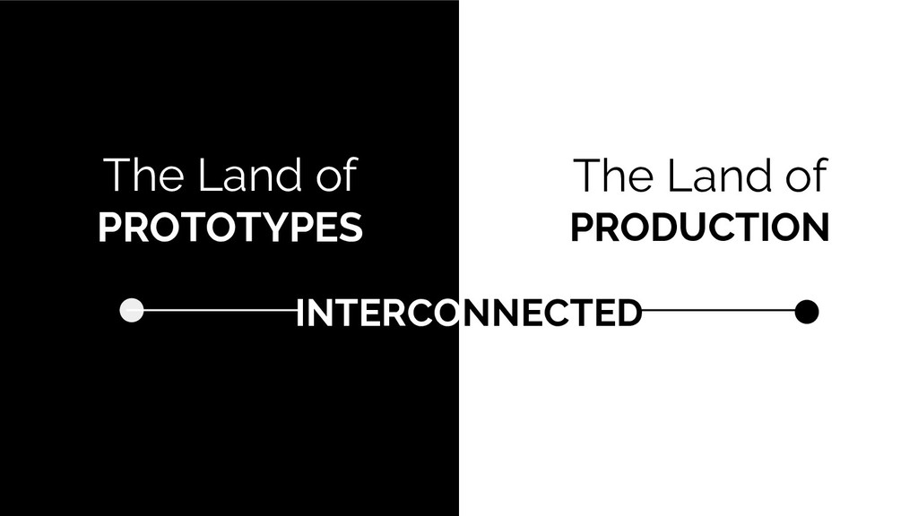 The Land of PROTOTYPES The Land of PRODUCTION I...