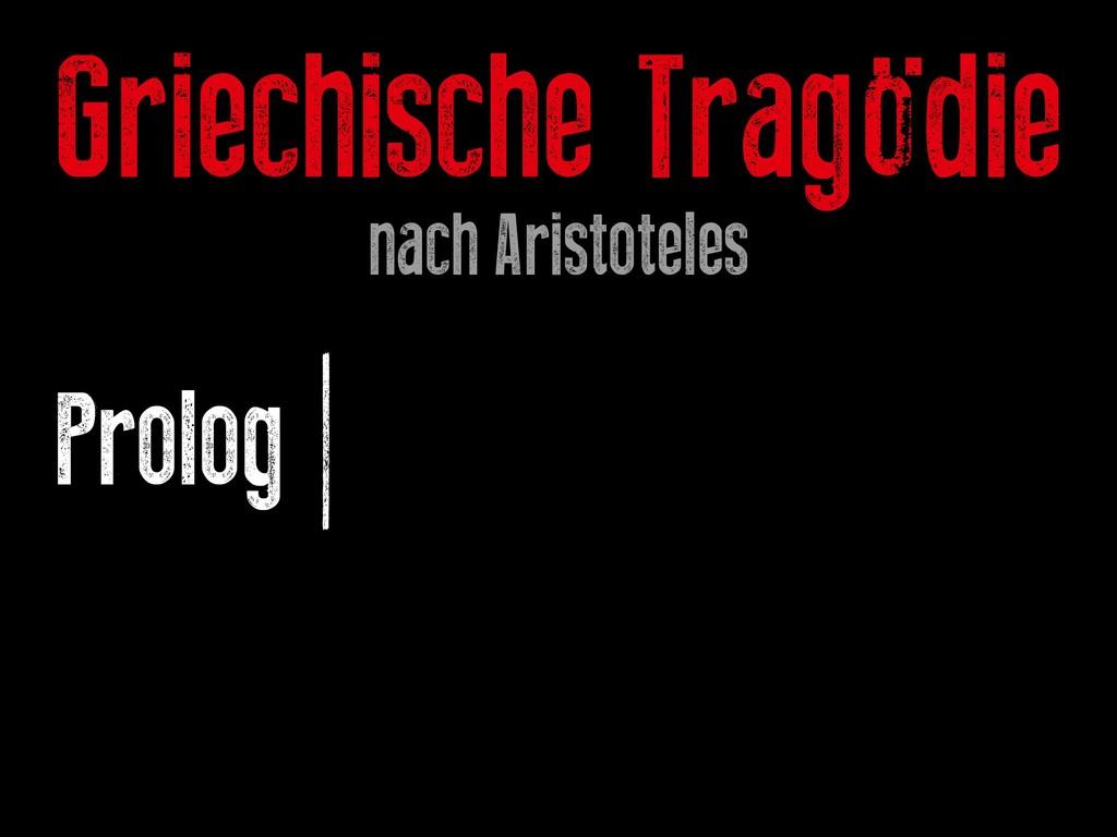 Prolog | Epeisodien | Exodus Griechische Tragöd...