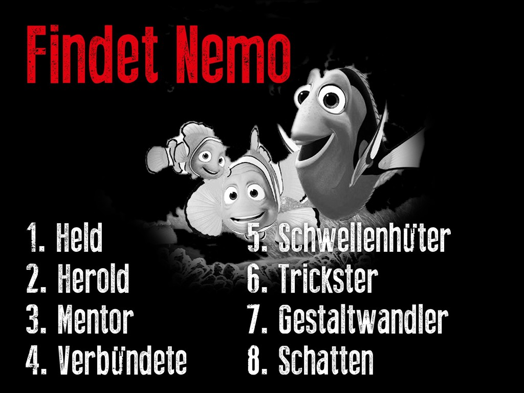 Findet Nemo 1. Held   5. Schwellenhüter...
