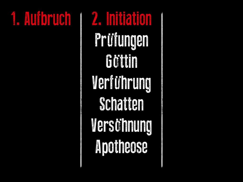 1. Aufbruch 2. Initiation Prüfungen Göttin Verf...