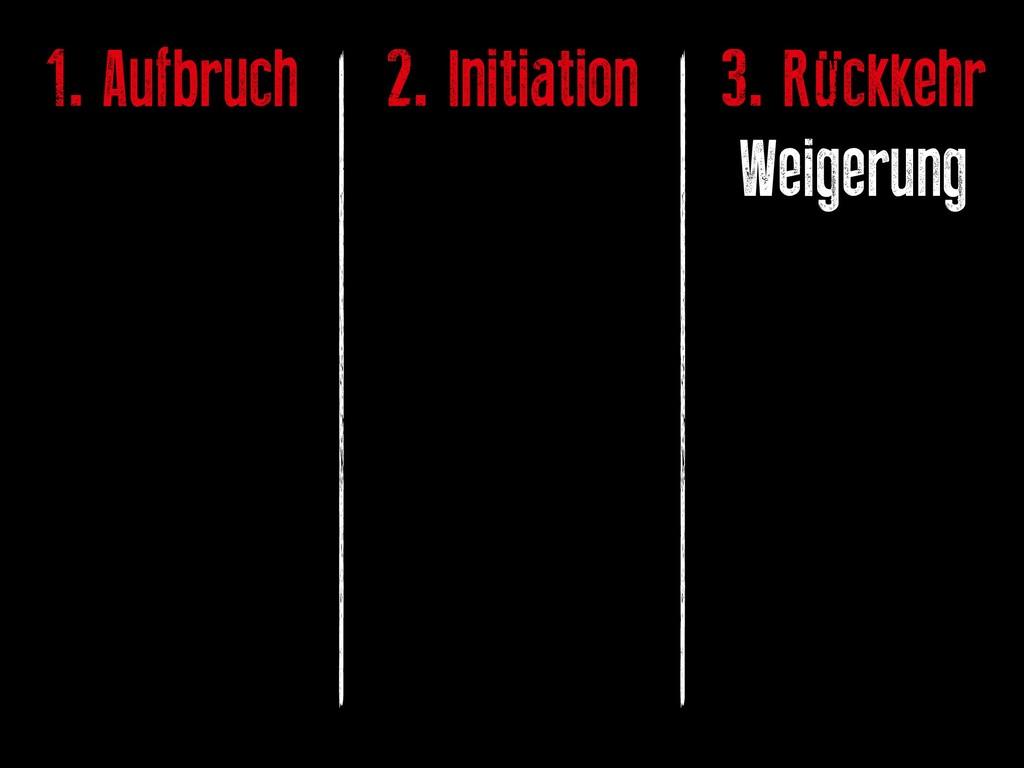 1. Aufbruch 2. Initiation 3. Rückkehr Weigerung