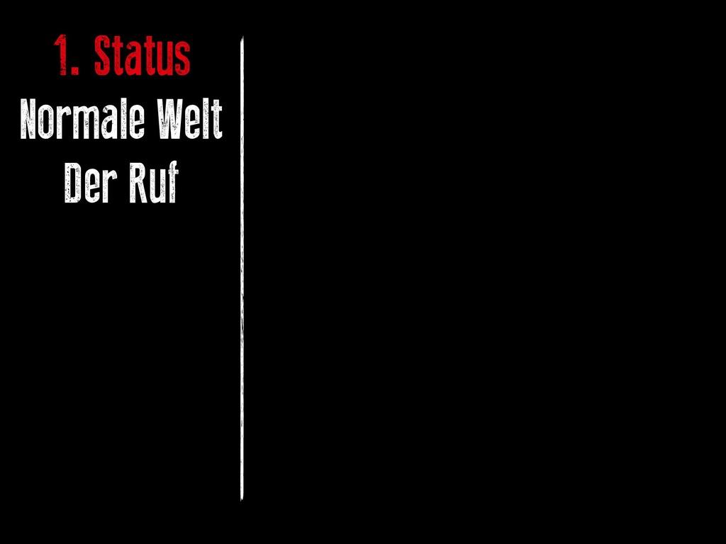 1. Status Normale Welt Der Ruf