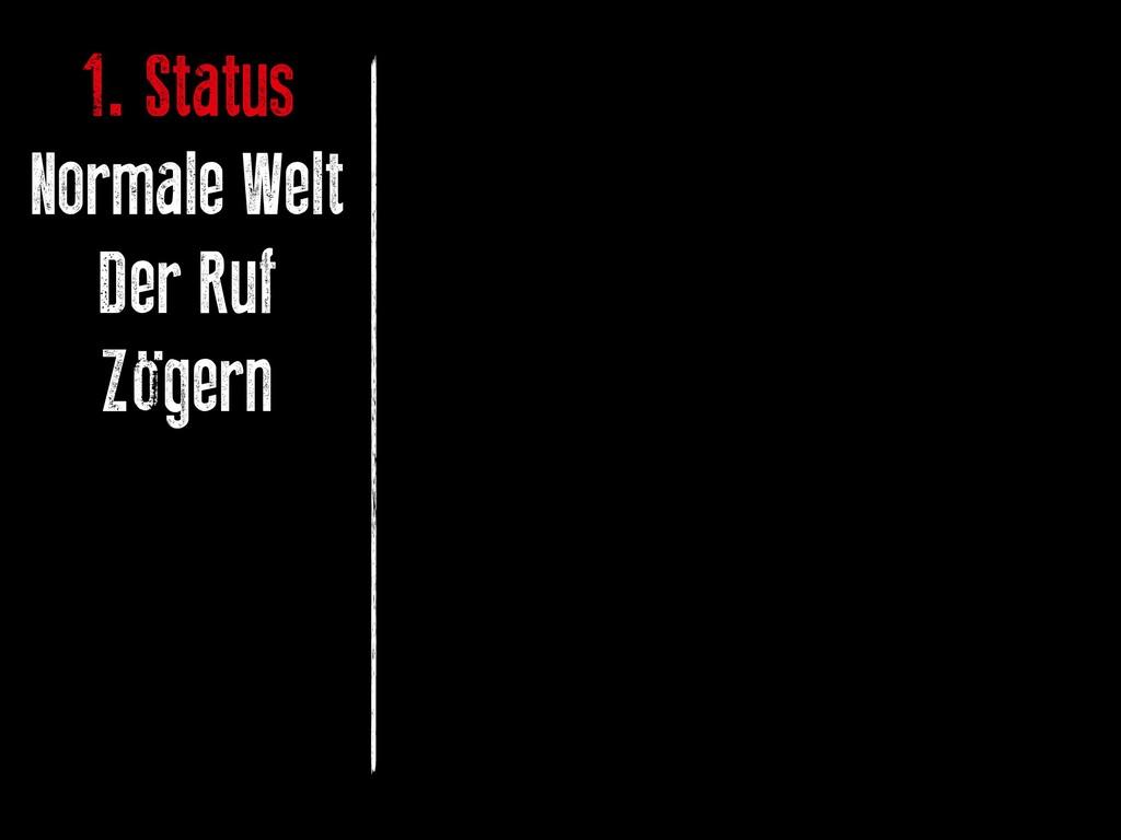 1. Status Normale Welt Der Ruf Zögern