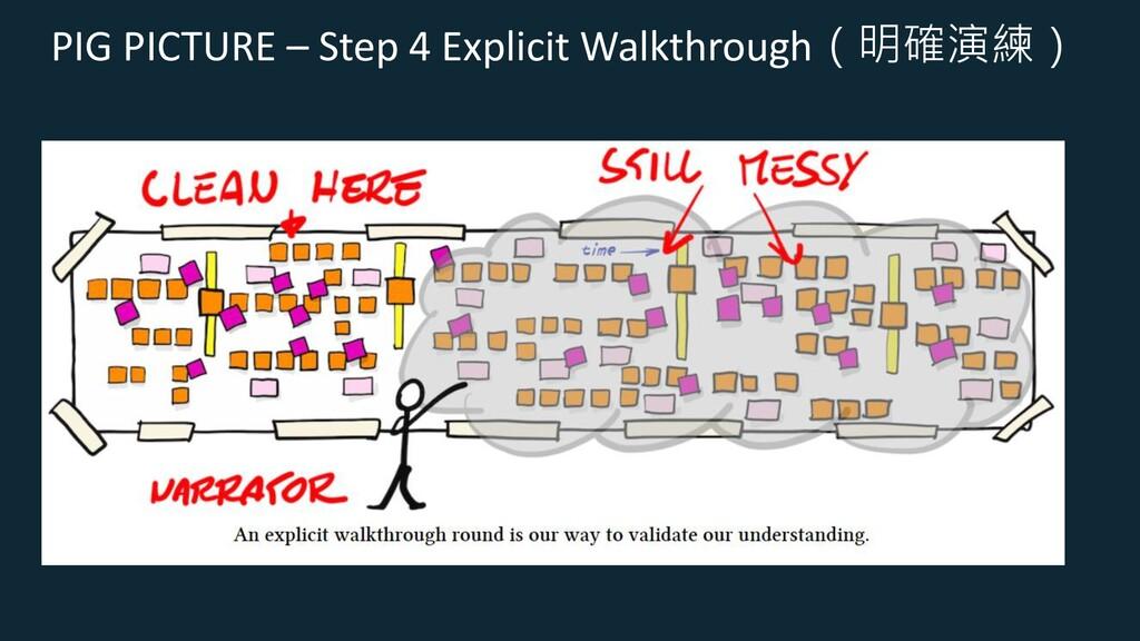 PIG PICTURE – Step 4 Explicit Walkthrough(明確演練)