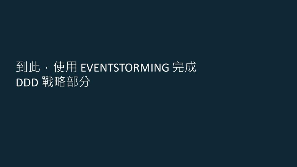 到此,使用 EVENTSTORMING 完成 DDD 戰略部分
