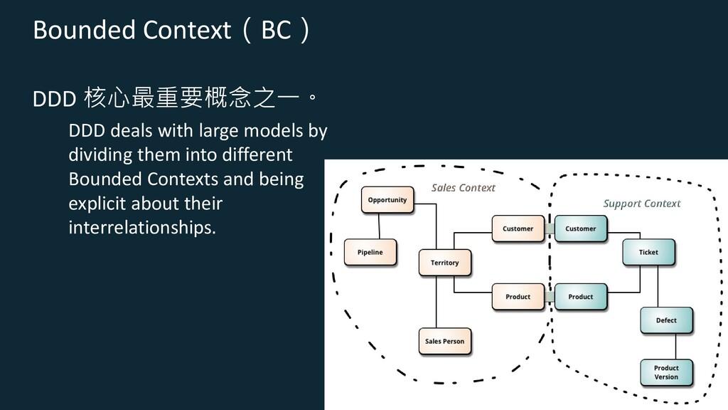 Bounded Context(BC) DDD 核心最重要概念之一。 DDD deals wi...