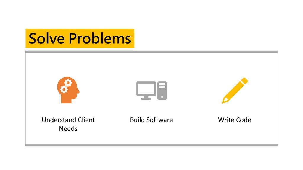 Understand Client Needs Build Software Write Co...
