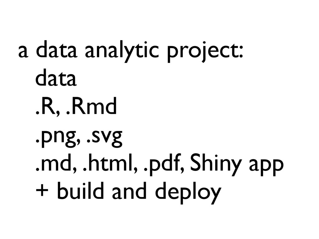 a data analytic project: data .R, .Rmd .png, .s...