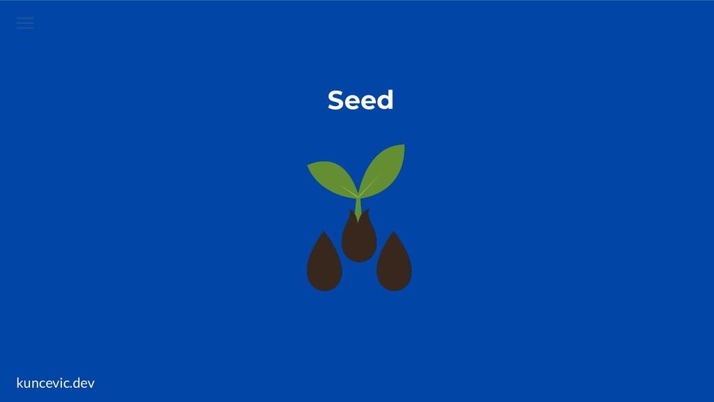 kuncevic.dev Seed