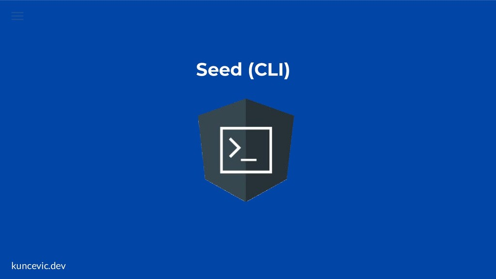 kuncevic.dev Seed (CLI)