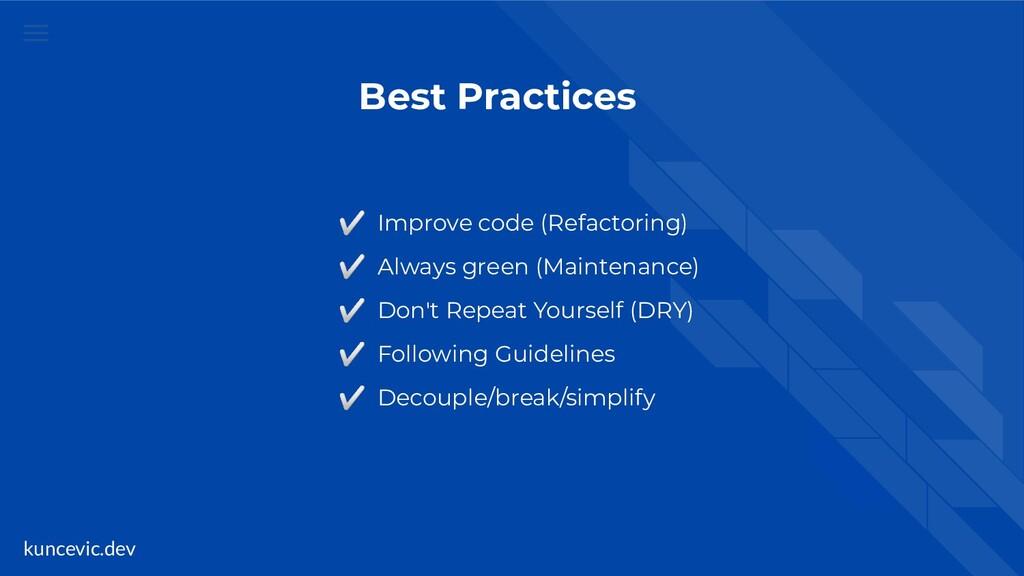 kuncevic.dev Best Practices ✅ Improve code (Ref...