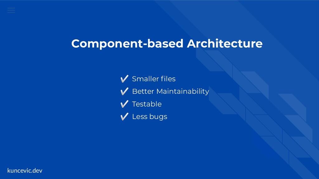 kuncevic.dev Component-based Architecture ✅ Sma...