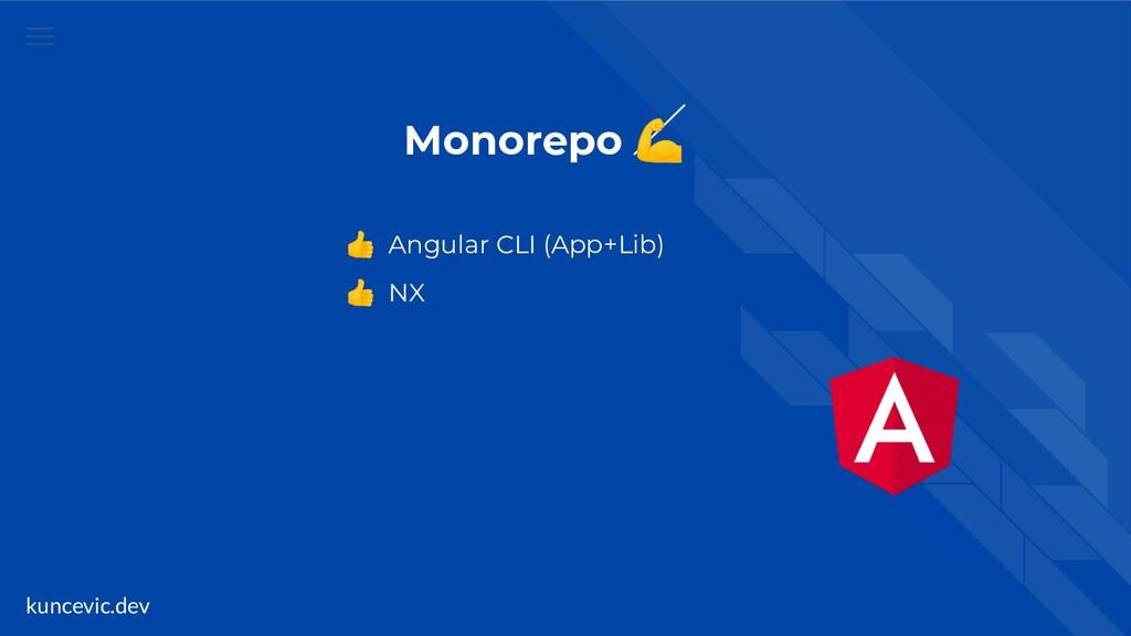 kuncevic.dev Monorepo   Angular CLI (App+Lib)  ...