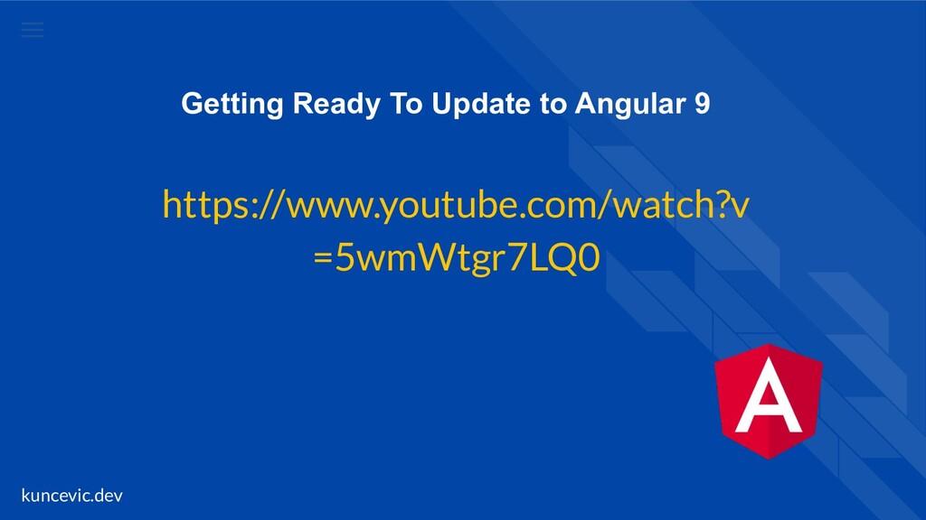 kuncevic.dev Getting Ready To Update to Angular...