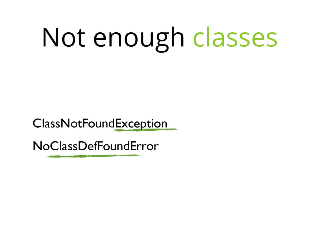 ClassNotFoundException NoClassDefFoundError Not...