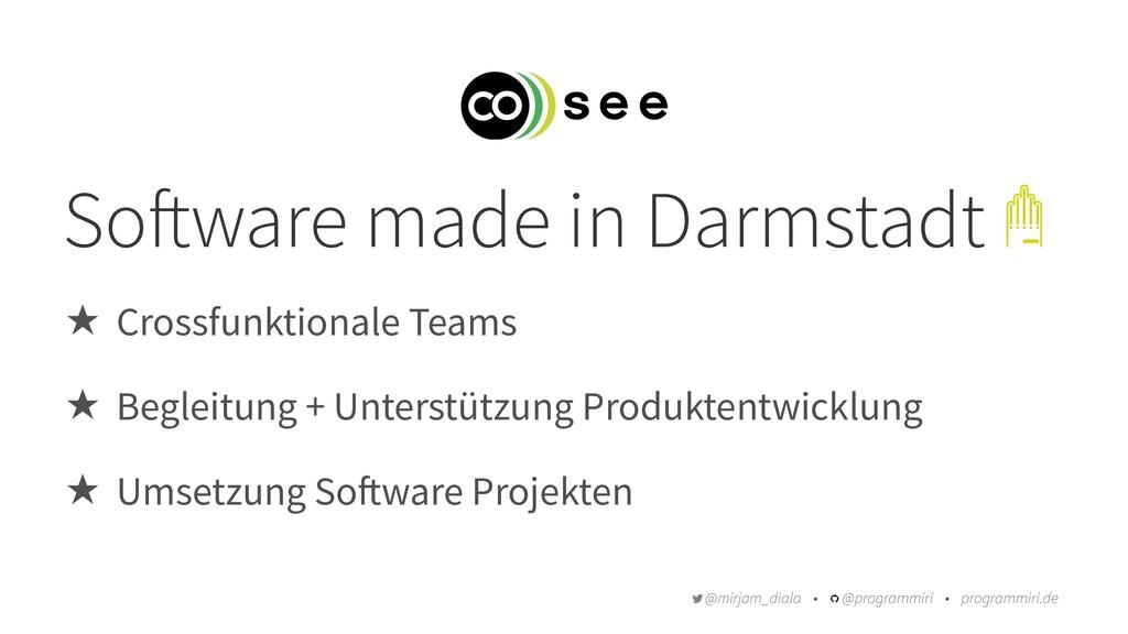 So!ware made in Darmstadt ̣ Crossfunktionale Te...