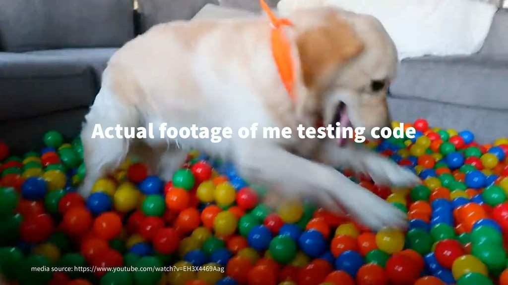 Actual footage of me testing code media source:...