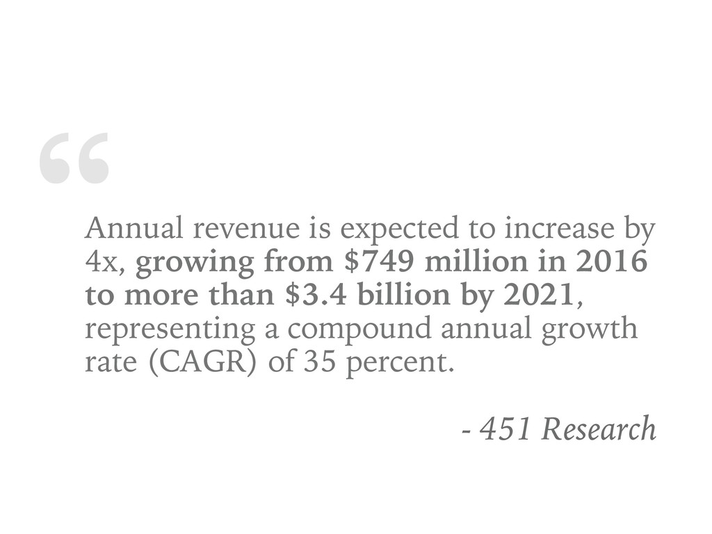 """ Annual revenue is expected to increase by 4x,..."