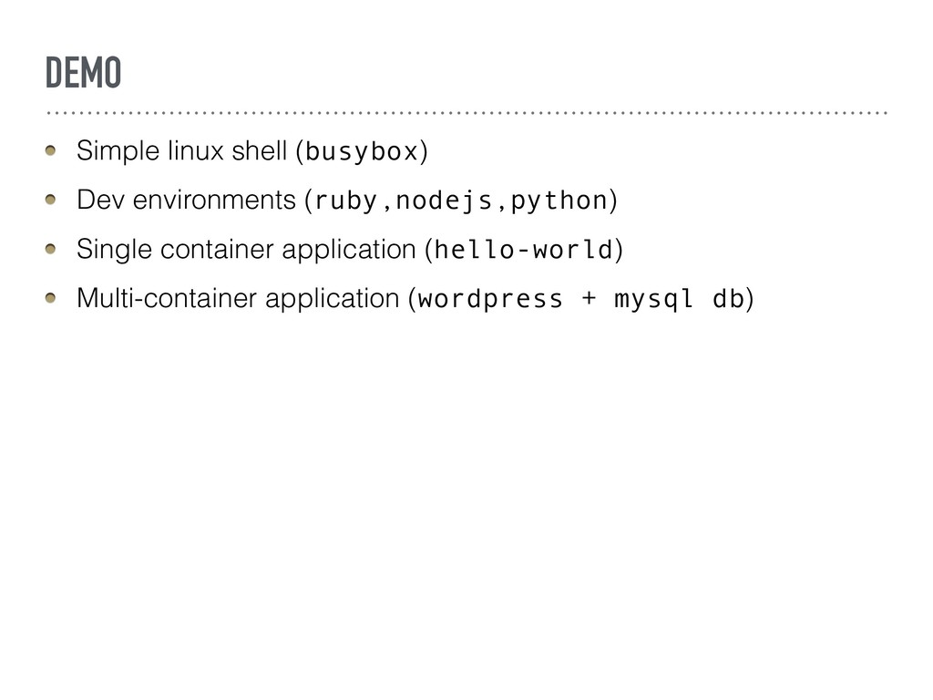 DEMO Simple linux shell (busybox) Dev environme...