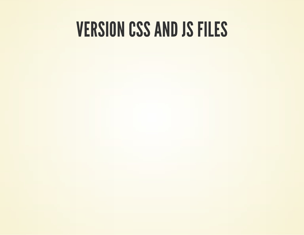 VERSION CSS AND JS FILES